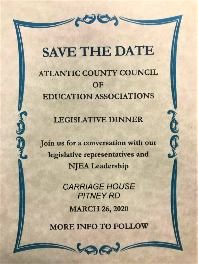 Legislative Save the Date March 26th, 2020