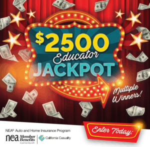 California Casualty $2,500 Educator Jackpot