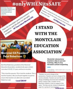 Statement of Support Montclair Education Association