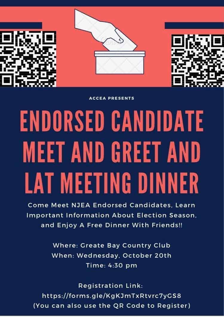 Wednesday, October 20th: Meet & Greet Dinner